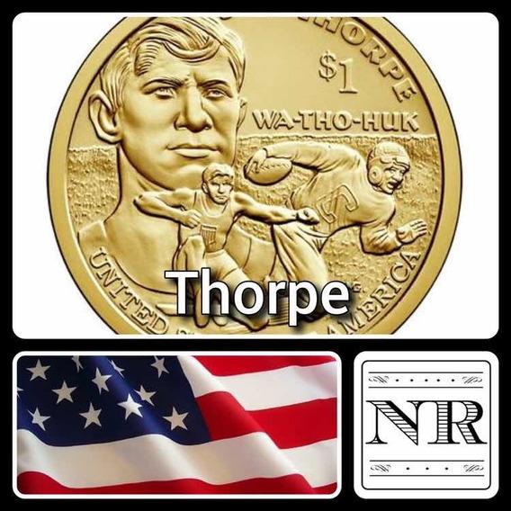 Nativa Americana 2018 - Jim Thorpe- Eeuu Sacagawea Dollar