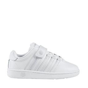 Tenis Deportivo K-swiss Color Blanco Para Niño Wr1033 A