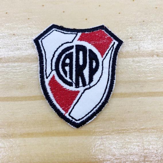 Parche Aplique Bordado Para Pegar En Barbijos X3 River Plate
