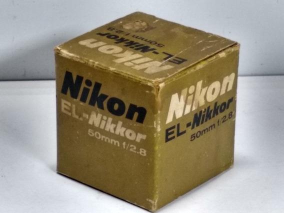 Lente Nikon El Nikkor 50mm F 2.8 Antiga Ler Obs L1405