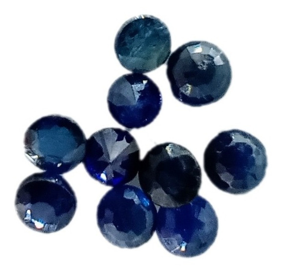 Safira Azul Redonda Natural 2 Mm Aa