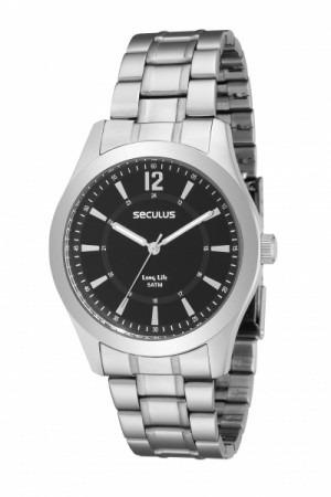 Relógio Seculus 28203g0sbna1 Preto, Novo Lindo Original