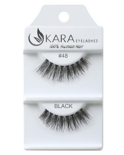 Imagen 1 de 2 de Pestañas De Cabello Humano Kara Beauty - 48 (paquete De 12)