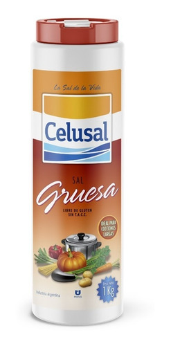 Sal Gruesa Celusal - Salero 1 Kg Libre De Gluten Sin Tacc