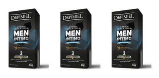 Kit X3 Crema Depilatoria Hombre Depimiel Partes Intimas X95g