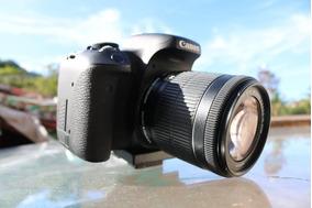 Câmera Fotográfica Canon Eos Rebel T6i + Lente 18-55 Origina