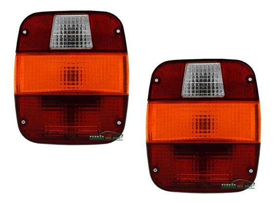Par Lente Lanterna Traseira Caminhão Ford / Vw (marmitão)