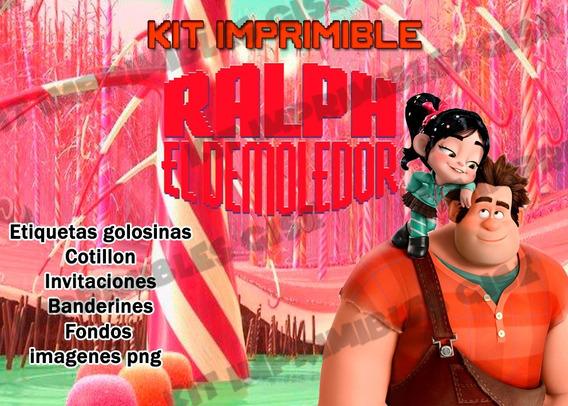 Kit Imprimible Ralph El Demoledor