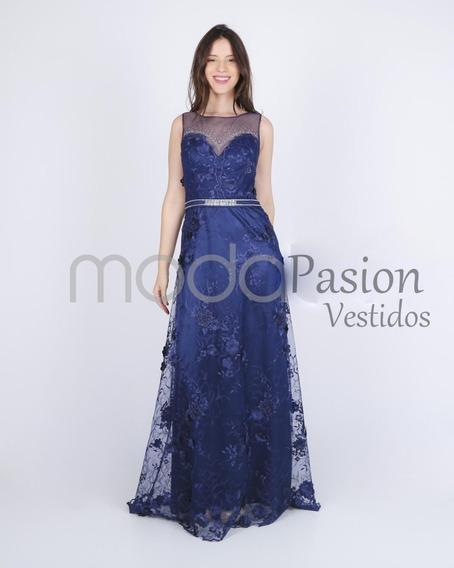 Vestidos Fiesta Largo Gala Bordado Colores Moda Pasion
