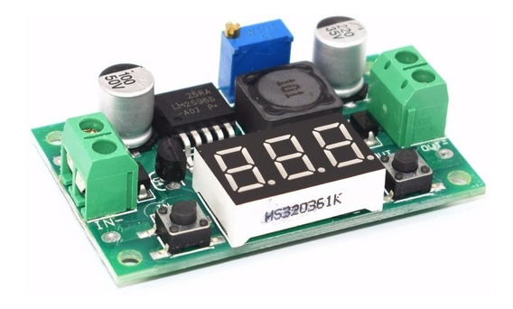 Regulador Tensão Ajust Step-down Lm2596 Dc-dc C/ Display