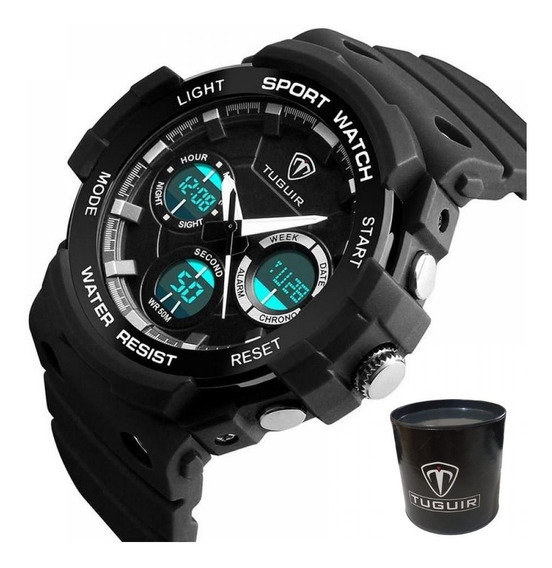 Relógio Masculino Shock Esportivo Militar Digital Original