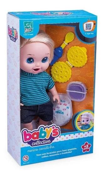 Boneco Babys Collection Come E Faz Caquinha - Supertoys 357