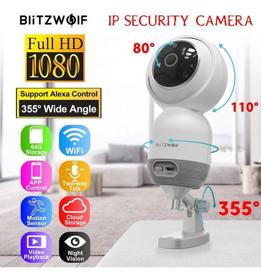 Blitzwolf Wi-fi Ip Câmera 1080p Sem Fio Ptz Noite Visão Cctv