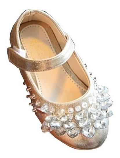 Sapato Infantil Festa Princesa Dourado Prata Rosa Promoção