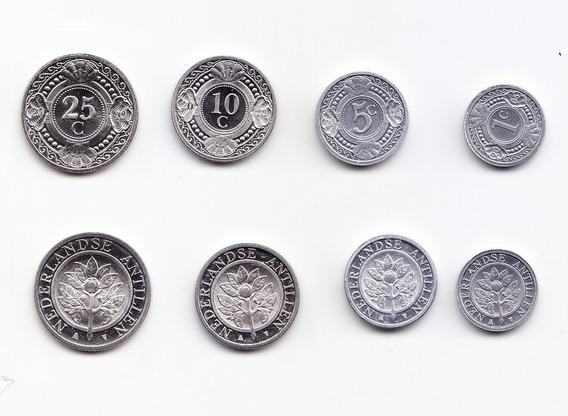 Antillas Holandesas Set De 4 Monedas Centavos De Gulden 2010