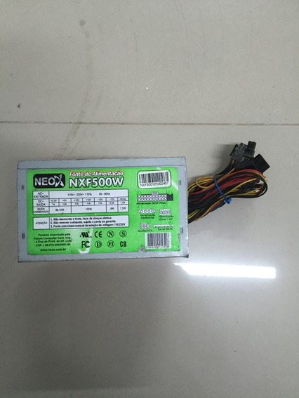 Fonte Atx Sata 24 Pinos Neox 500w Model Nxf500w