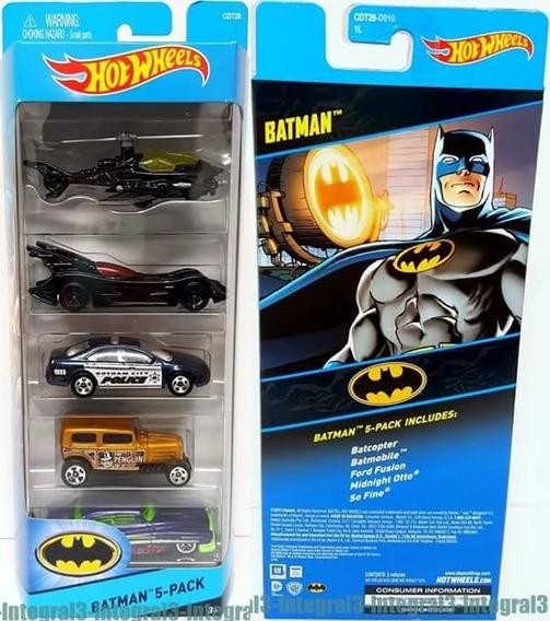 Pack C/ 5 Miniaturas Batman Hot Wheels Novo / Lacrado