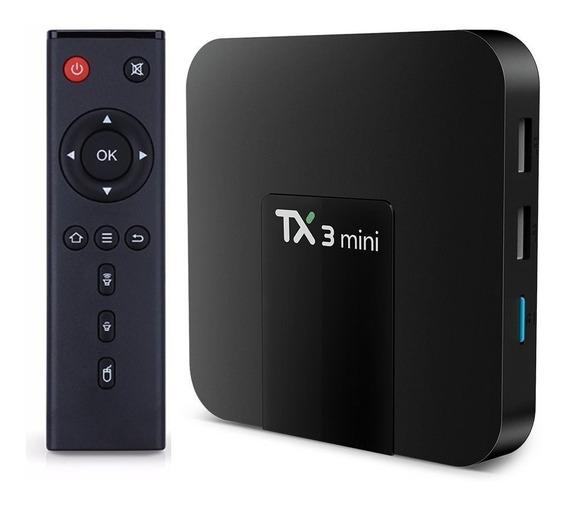 Transforme Sua Tv Em Smart Tx3 Mini 32 Gb E 3 Gb Ram Tv Box