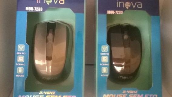Mouse Óptico Sem Fio Usb Cores Variadas Kit Com 2 Unidades