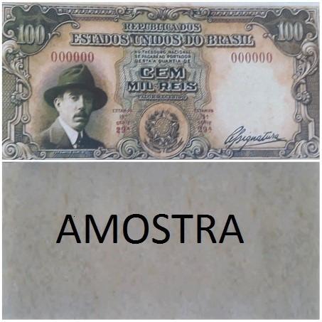 Linda Cédula Ensaio 100 Mil Réis - Stos. Dumont N/c