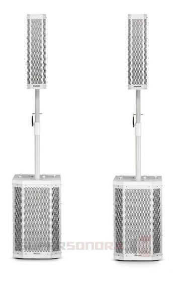 Kit Sistema Caixa De Som Torre Amplificado Grt12 Frahm