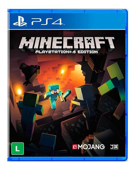 Jogo Minecraft Ps4 - Playstation 4 - Midia Fisica Lacrado