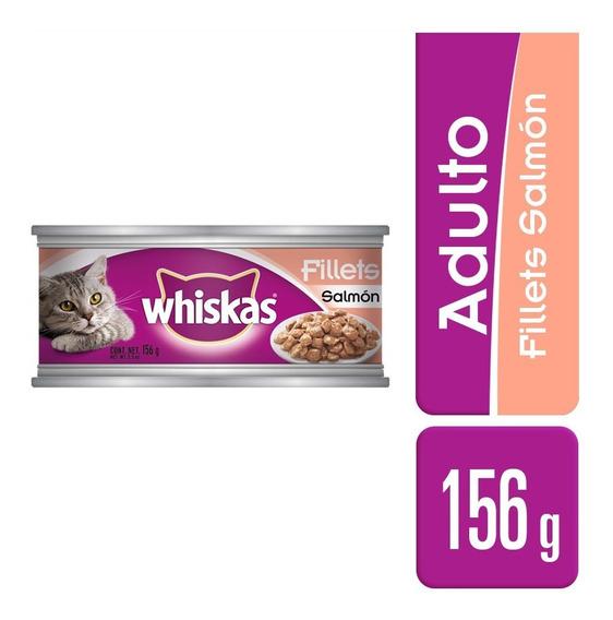 Alimento Para Gato Whiskas Salmón Lata 156 Gr