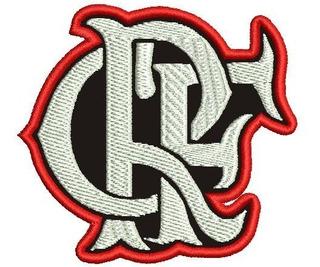 Patch Escudo Crf Flamengo Com Carrapicho 7,5x7,0 Cm........