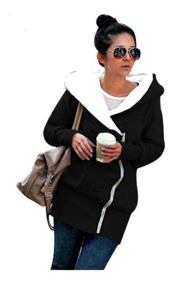 Camperon Hoodies Mujer Capucha Con Corderito Buzo Art,01