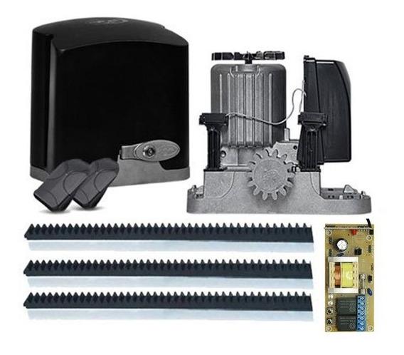 Kit Portão Eletrônico Motor Deslizante Dz Rio 1/4 Até 300 Kg