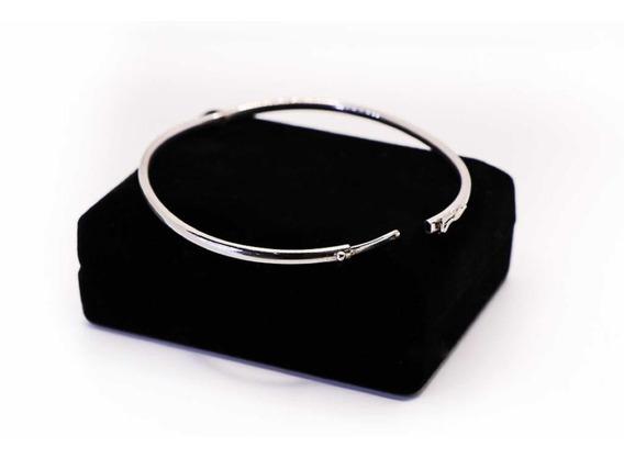 Bracelete De Ouro Branco 18k