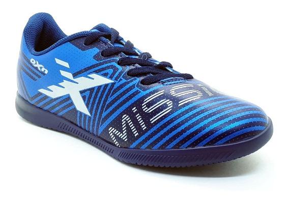 Chuteira Infantil Futsal / Salão Oxn Mission Azul