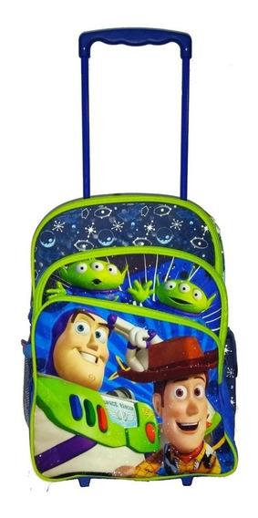 Mochila Infantil Toy Story De Rodinhas Disney Tamanho G