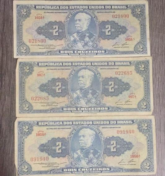 2 Cruzeiros (3 Unid.) - República Us Do Brasil - Bom Estado