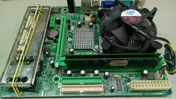 Kit Placa Mae 775 Via P4m900-m7 Fe Ddr-2 De 2g + Dual-core