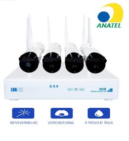 Kit Wi-fi 4 Câmeras Nvr 720p E 4 Canais Suporta 1 Hdd 6 Tb