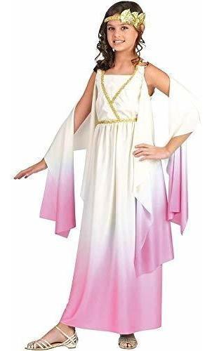 Disfraz De Athena Para Niños De World Fun, Multicolor, Medi