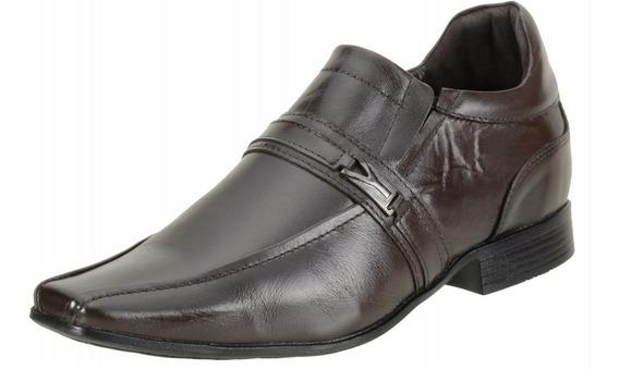 Sapato Dududias Social Masculino 6 Cm + Alto Couro - 6501