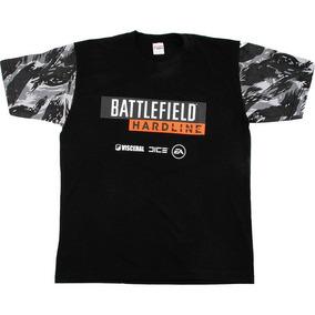Camiseta Battlefield Hardline Gola Preta - Tamanho Único