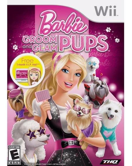Barbie Groom And Glam Pups Wii   Midia Física Original