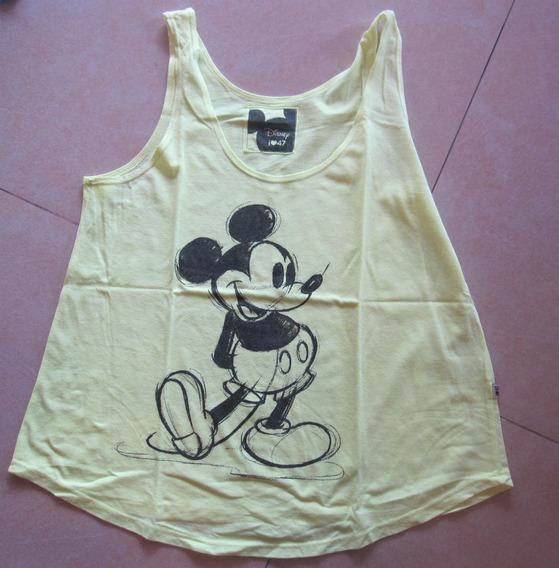 Musculosa 47 Street 3/42 Mickey Amarilla Fluo Re Poco Uso