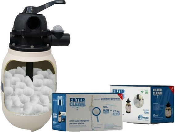 Substitui Areia Filtro Piscina +leve Dura 3anos Filter Clean