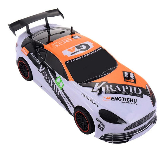 Auto A Radio Control Remoto Rc De Carrera Recargable Via Usb