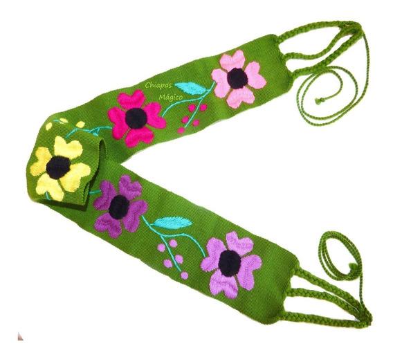 Hermosas Fajas Cintos Bordados A Mano Con Flores De Chiapas