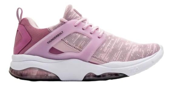 Tênis Feminino Fila Thunderbolt Rosa Academia Caminhada Nf