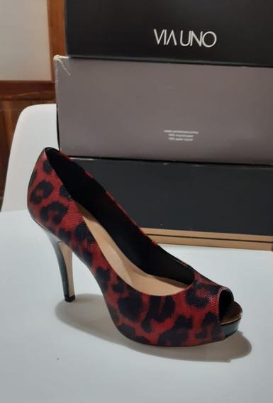 Zapatos De Taco De Mujer Clasicos Via Uno