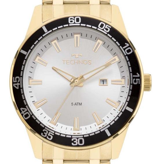 Relógio Technos Masculino Racer 2115mmy/4k Dourado C/ Nf