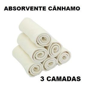 Absorvente Noturno P/fralda Ecológica Cânhamo/hemp 3 Camadas