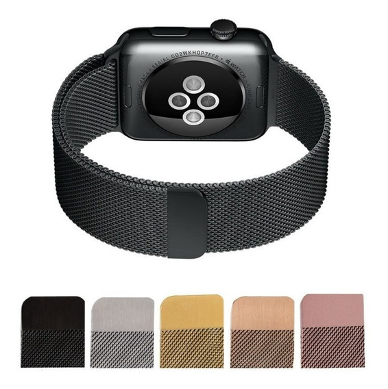 Correa Extensible Malla Milanese Para Apple Watch 38 Y 42 Mm