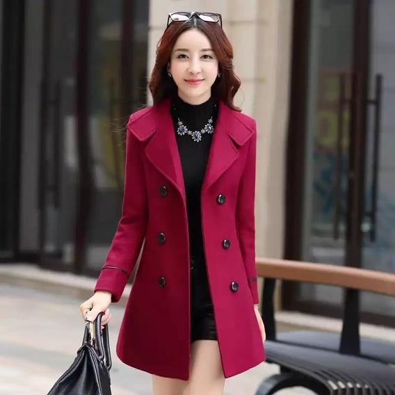 Abrigo Nueva Moda Coreana De Lana Temperamento Abrigo Para M